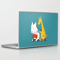 zebra Laptop & iPad Skins featuring Zebra Tattoo by Picomodi