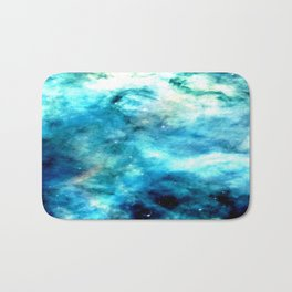 Ocean Blues Nebula galaxy Bath Mat