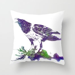 African Crow - Ria Loader Throw Pillow