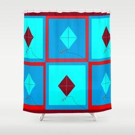 Grandma's Kites Quilt, My Version Shower Curtain