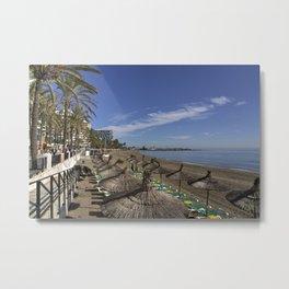 Marbella Beach  Metal Print