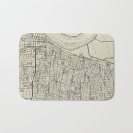 Vintage Map of Memphis Tennessee (1911) Bath Mat