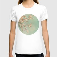 cherry blossoms T-shirts featuring Cherry Blossoms by happeemonkee