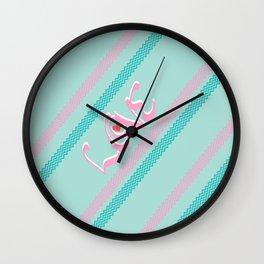 Pink&green mint Love Wall Clock