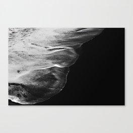 Black Sand White Wave Canvas Print