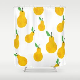 pear yellow Shower Curtain