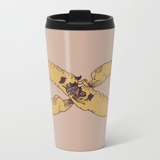 Infinity of Pug Metal Travel Mug