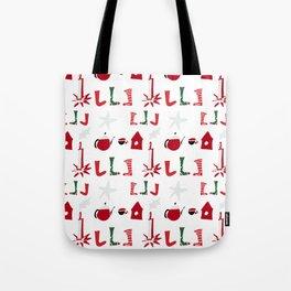 Christmas Cosy white Tote Bag