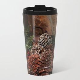 Holly And Pine Cones Travel Mug
