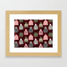 Knitted Zebra Beanie Framed Art Print