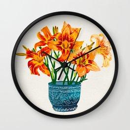 Lily Blossom Wall Clock
