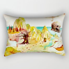Peter Pan Map Rectangular Pillow