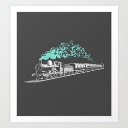 Butterfly Train Art Print