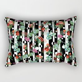 Cactus Flowers and Lines Rectangular Pillow