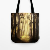 forrest Tote Bags featuring The forrest by Richard Eijkenbroek