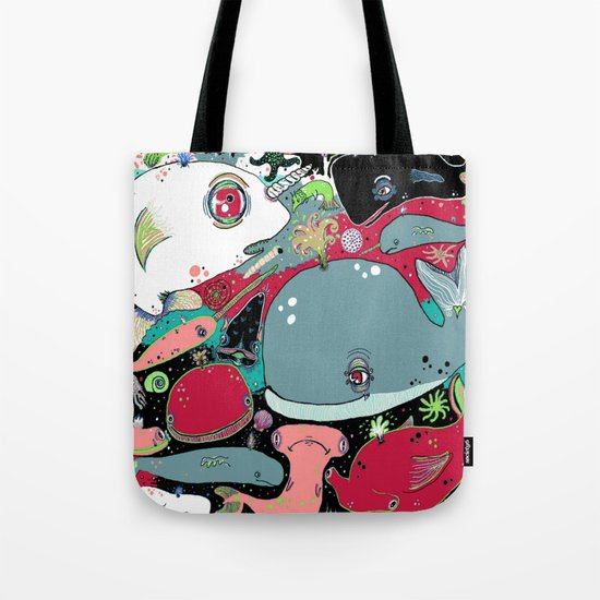 whale narwhal hammerhead shark sealife Tote Bag