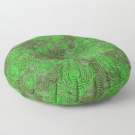 Spiral greenery magic ornament Floor Pillow