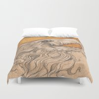 phoenix Duvet Covers featuring Phoenix by Ashley Hull