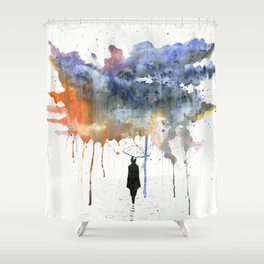 Waiting For The Sun. Shower Curtain