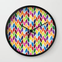 diamonds Wall Clocks featuring Diamonds by Wharton