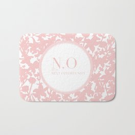 N.O means next opportunity Bath Mat