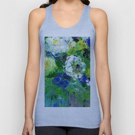 Abstract Floral - Botanical Unisex Tank Top