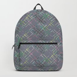 Gray checkered pattern. Backpack