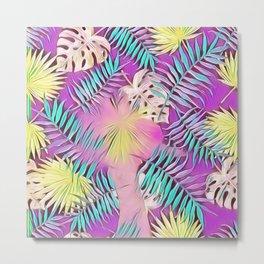 BIRD OF PARADISE Leaf Overlay #society6 #tropical Metal Print