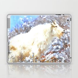 Mountain Goats In the Alpine Wyoming Mountain - Rocky Mountain Goat Laptop & iPad Skin
