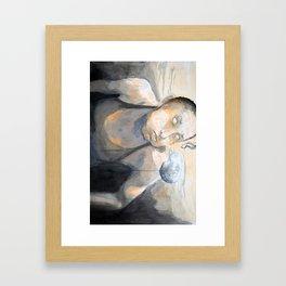 Seeing my demons Framed Art Print