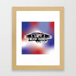 WWGKW Logo - Red, White & Blue Framed Art Print