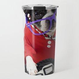 Boston Terrier Photographer Travel Mug