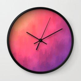 Watercolors Fun III Wall Clock