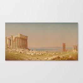 Sanford Robinson Gifford Ruins of the Parthenon 1880 Painting Canvas Print