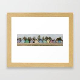 A row of Beach Huts Framed Art Print