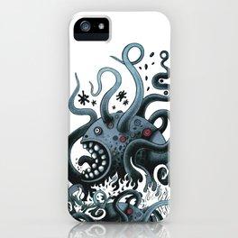 Octoworm (blue version) iPhone Case