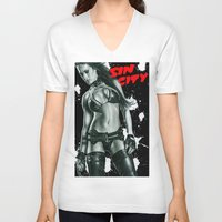 sin city V-neck T-shirts featuring Sin city girl by calibos