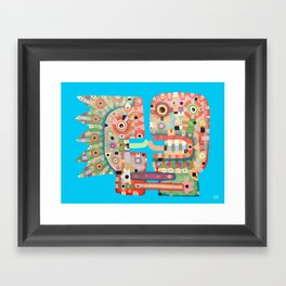 French Kiss Framed Art Print