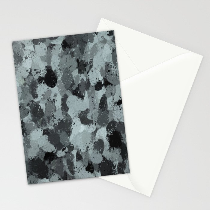Black and Smokey Blue Pastels 3216 Stationery Cards