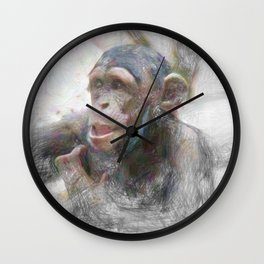 Artistic Animal Young Chimp Wall Clock