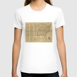 Historical Civil War Map (1862) T-shirt