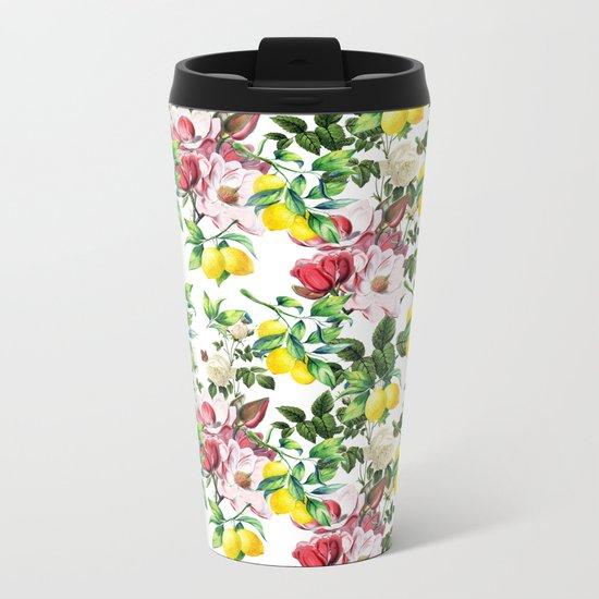Spring Garden Metal Travel Mug