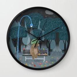 feeding the birds Wall Clock