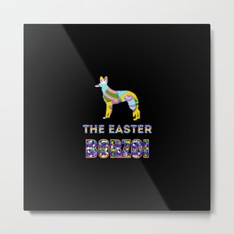 Borzoi gifts   Easter gifts   Easter decorations   Easter Bunny   Spring decor Metal Print