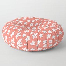 Stars Living Coral Floor Pillow