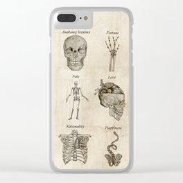 Anatomy lessons Clear iPhone Case