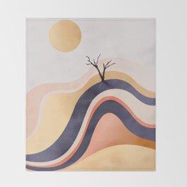 The Flowing Golden Desert Throw Blanket