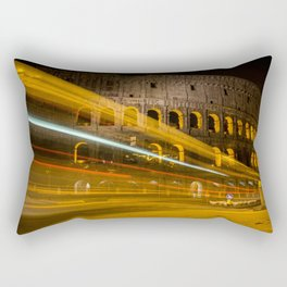 Zooming past the Colosseum Rectangular Pillow