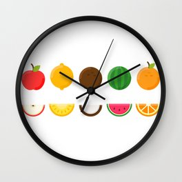 Sliced Fresh Fruit Wall Clock