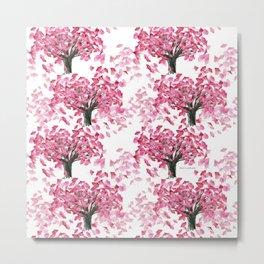 Cherry Tree Pattern Metal Print